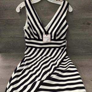 Bisou Bisou Michelle Bohbot Black & White Dress